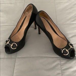Gucci black horsebit heels